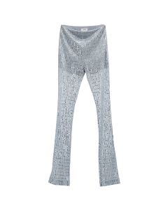 WE11DONE GLITTER TROUSERS / SKY