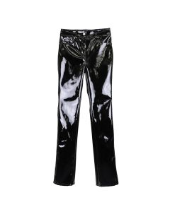WE11DONE ENAMEL TROUSERS / BLACK