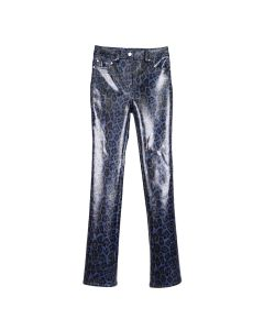 WE11DONE PYTHON PRINT TROUSERS / BLUE