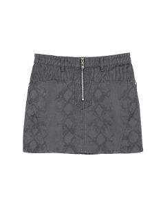 WE11DONE MIXED ANIMAL PRINT MINI SKIRT / BLACK