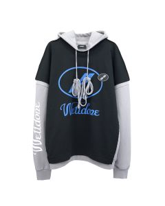 WE11DONE REMAKE LOGO HOODIE / BLACK