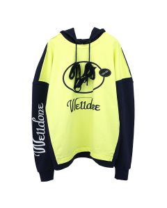 WE11DONE REMAKE LOGO HOODIE / YELLOW