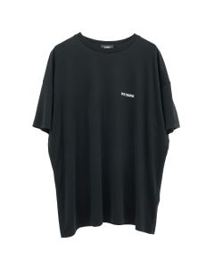WE11DONE WD OVERSIZED JERSEY TEE / BLACK
