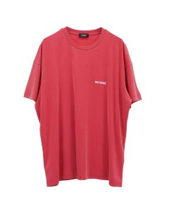 WE11DONE WD OVERSIZED JERSEY TEE / RED