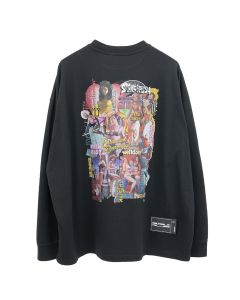 WE11DONE NEW MOVIE COLLAGE LONG SLEEVE / BLACK