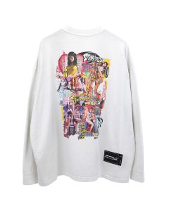 WE11DONE NEW MOVIE COLLAGE LONG SLEEVE / WHITE