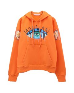 Walter Van Beirendonck MONSTER HOODY / CC21 : RED-ORANGE