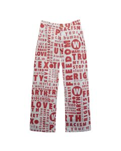 Walter Van Beirendonck HOWL TROUSERS / CC16 : WORDS ALLOVER