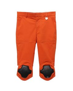Xander Zhou CALF LENGTH TROUSER WITH KNEE / RED