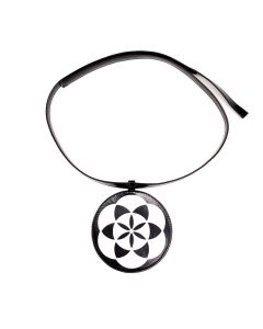 Xander Zhou CIRCLE SHAPE LEATHER ACCESSORY / BLACK