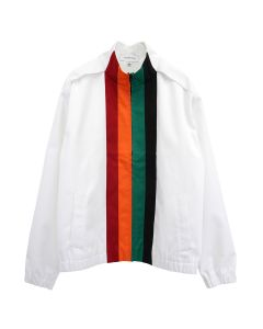 Xander Zhou LONG SLEEVES ZIP UP JACKET / WHITE-ORANGE-RED-GREEN-BLACK