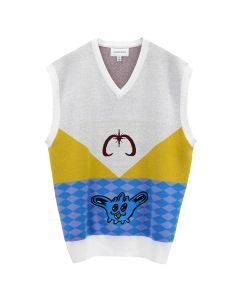 Xander Zhou KNIT VEST TOP WITH GRAPHIC / MULTICOLOR