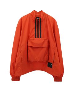 Y-3 U PACKABLE HALF-ZIP SHELL TRACK JACKET / ICON ORANGE