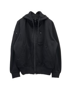 Y-3 M TRVL PIQUE REVERSIBLE FULL-ZIP HOODY / BLACK