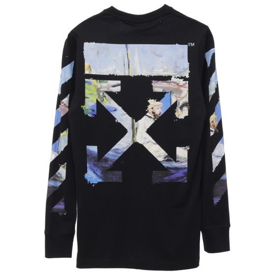 off white c o virgil abloh mens diag colored arrows l s tee 1088