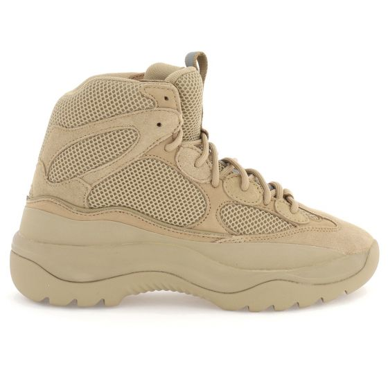 yeezy season 6 taupe thick suede mesh and nubuck desert boot taupe