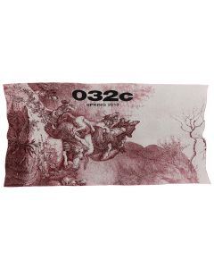 032c BLANKET WITH PLACED PRINT / RED