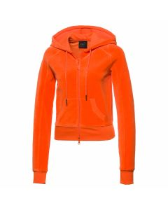 Fenty Puma by Rihanna VELOUR FITTED ZIP-UP TRACK  JACKET / FLAME