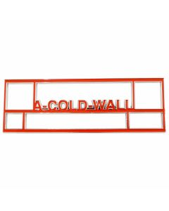 A-COLD-WALL* A-COLD-WALL* BRICK PIN / ORANGE-CHROME-STEEL