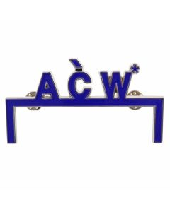 A-COLD-WALL* LOGO PIN / NAVY BLUE-CHROME-STEEL