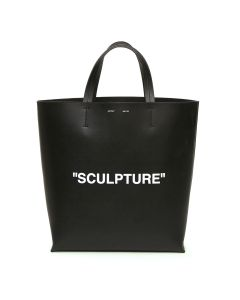 OFF-WHITE c/o Virgil Abloh WOMENS SCULPTURE TOTE LARGE / BLACK WHITE