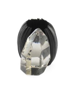 ASTRID ANDERSEN MONIES RING WOOD&CRYSTAL / BLACK WOOD (CRYSTAL)