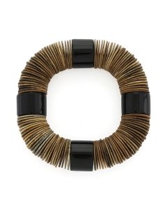 ASTRID ANDERSEN MONIES BRACELET WOOD&POLY / BROWN-BLACK