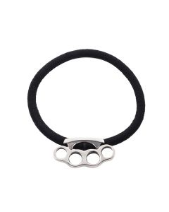 ALICE BLACK MJ/SAD KNUCKLE HAIR ELASTIC / SILVER
