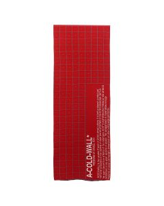 A-COLD-WALL* GRID SCARF WITH CIRCULAR CUT OUT / RED