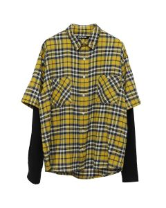 ADAPTATION DOUBLE SLEEVE SHIRT / YELLOW PLAID