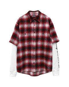 ADAPTATION DOUBLE SLEEVE SHIRT / 347 : RED PLAID