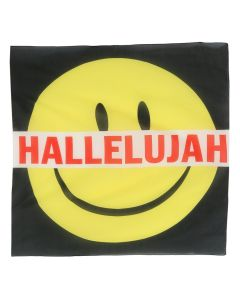 A.FOUR LABS x Cali Thornhill Dewitt HALLELUJAH BIG SCARF / BLACK-YELLOW