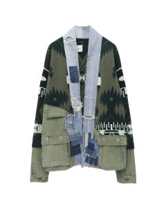 Greg Lauren x Alanui ICON PATCH WS FIELD JACKET / 5588 : SWAMP GREEN