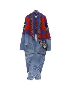 Greg Lauren x Alanui ICON PATCH CASHMERE OVERALLS / 2588 : LA SCALA RED