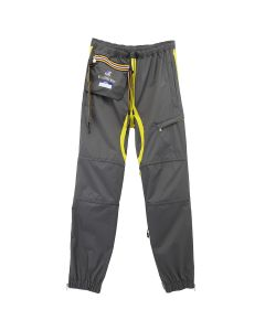 AFTERHOMEWORK KWAY PACKABLE PANT WITH CABLES / GREY