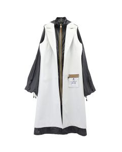 AFTERHOMEWORK KWAY TWO LAYERS TRENCH COAT / WHITE-GREY
