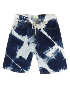 Aries ARGYLE JEANS SHORTS / DARK DENIM