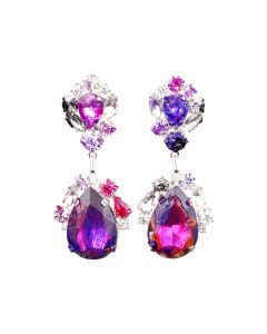 ART SCHOOL x DOMINIC MYATT EARRINGS SKEW 2 / RED-PURPLE-BLACK