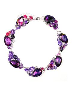 ART SCHOOL x DOMINIC MYATT NECKLACE SKEW 2 / RED-PURPLE-BLACK