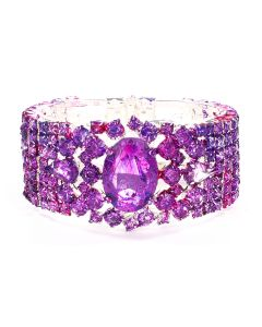 ART SCHOOL x DOMINIC MYATT LARGE CUFF / RED-PURPLE-BLACK