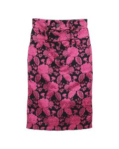 ART SCHOOL DOUBLE SKIRT SKEW 1 / PINK-BLACK