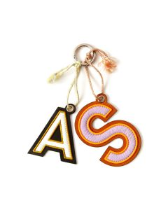 Acne Studios LETTERS KEYRING / PURPLE-WHITE