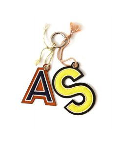 Acne Studios LETTERS KEYRING / YELLOW-BLUE