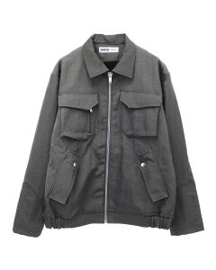 AFFIX BOMBER JACKET / GREY