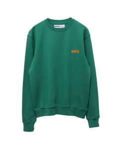 AFFIX AFFIX CHEST EMBROIDERY CREWNECK / SERVICE GREEN-SAFETY ORANGE