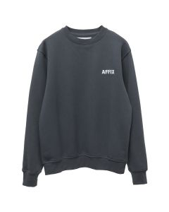 AFFIX AFFIX CHEST EMBROIDERY CREWNECK / UTILITY GREY-WHITE