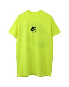 BOILER ROOM MATERIAL ENERGY TEE / BLK ON NEON YELLOW