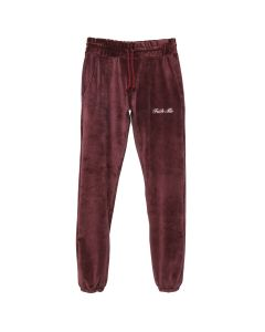 BOND VAULT FUCK ME EMBROIDERED SWEAT PANT / BURGUNDY