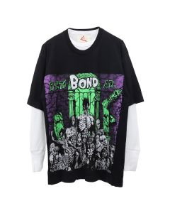 BOND VAULT BOND EARTH A.D. THERMAL T-SHIRT / VINTAGE BLACK