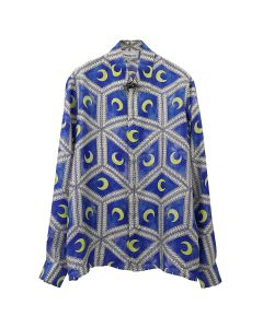 Casablanca MOONLIGHT TILES SHIRT / 002 : BLUE
